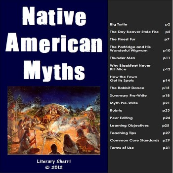 Native American Myths: Guided Reading and Writing for Middle School (Grades 6-8)
