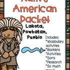 Native American Packet-Powhatan, Lakota, Pueblo