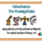 Native American Priorknowledge (pre-research) Freebie