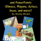 Native Americans: 5 Webquests, Mayans, Aztecs, Incas, Ojib