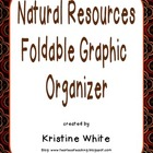 Natural Resource Foldable Graphic Organizer