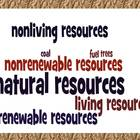Natural Resources Renewable &amp; Nonrenewable Study Guide &amp; W