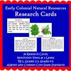 Natural Resources Research Cards (Included in Nat Resource