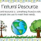 Natural Resources vs. Man Made Posters