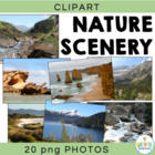 Natural Scenery - Background Photos Digital Clipart