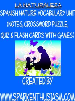 Nature Vocabulary Lists, Activities, Crossword, Games, & Q