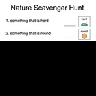 Nature scavenger hunt - special education