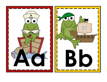 Nautical Frogs Alphabet