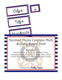 Nautical Theme Calendar Math Bulletin Board Pack