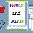Needs &amp; Wants Social Studies SmartBoard Lesson for Primary Grades