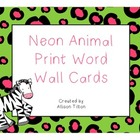 Neon Animal Print Word Wall Headers