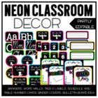 Neon Classroom Decor Set