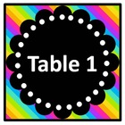 Neon Table Signs~ Freebie
