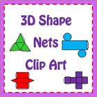 Nets of 3D Shapes Clipart