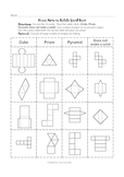 Nets to Solids Card Sort ( geometry, geometric shapes)