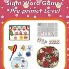 Never Get Bored Sight Word Game Pre-Primer Level