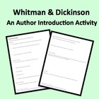 New American Poetry Introduction Activity to Whitman & Dickinson