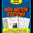 New Nation, Hamilton, Jefferson Flow Chart Activity Graphi