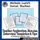 New Teacher Application, Resume &amp; Interview Templates &amp; Tips