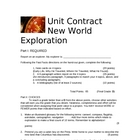 New World Explorers: Report and Contract of Choice Activities