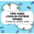 New Year Color By Number FREEBIE!