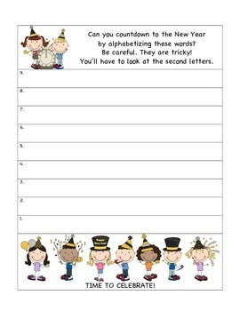 New Year Literacy Unit