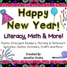 New Year Supplement Pack!  Literacy, Math, Centers, Crafts