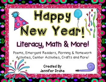 New Year Super Pack!  Literacy, Math, Centers, Crafts & Mo