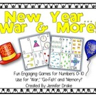 New Year War & More!  Fun & Engaging Math Center Games for
