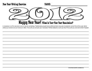 New Year Writing Activities