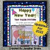 New Year 'Year Puzzle' Printable; NO PREP!  3 Years Included