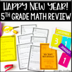 New Year&#039;s Common Core Math Booklet {All Common Core Stand