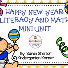 New Years Fun - Math and Literacy Centers