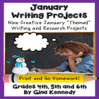 New Year's, Holiday January Differentiated Writing Project