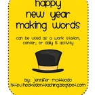 New Years Making Words Activity