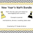 New Year's Math Bundle (Math Centers for the New Year!)