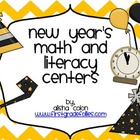 New Year's Math & Literacy Centers