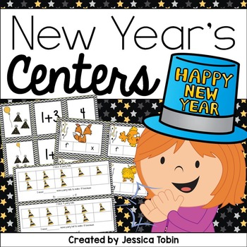 New Year's Math and Literacy Stations