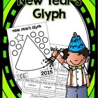 New Year&#039;s Party Hat Color, Cut and Paste Glyph