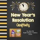 New Year&#039;s Resolution Craftivity {Writing and Class Book}
