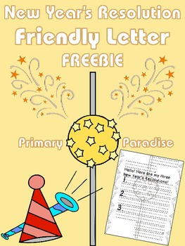 New Year's Resolution Friendly Letter FREEBIE