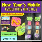 New Year&#039;s Resolutions and Goals Mobile {FREEBIE}