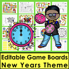 New Year's Sight Words Game Boards-Last Half of Dolch + 10