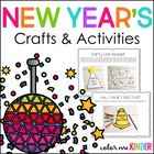 New Year&#039;s Themed Language Arts &amp; Math Centers and Printables