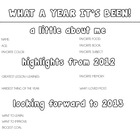 New Year's Worksheet [2012-2013] [Black & White]