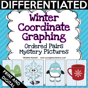 New Years and Winter Coordinate Graphing Ordered Pairs {Mystery Pictures}