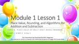 Math Module 1 Topic A Engage NY 4th Fourth Grade PowerPoin