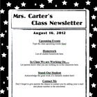 Newsletter Template- White on Black Stars