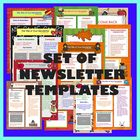 School and Fall Theme Newsletter / Party Templates - Set o