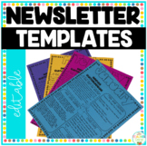 Newsletter Templates {Month by Month} Editable Class Newsletters